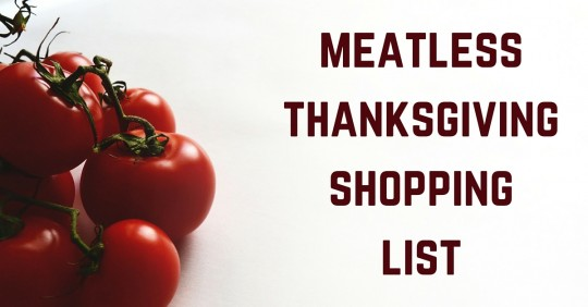 MeatlessThanksgivingShopping List