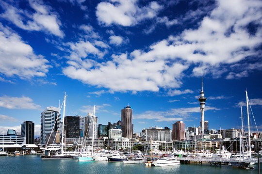 Auckland, North Island, New Zealand skyline