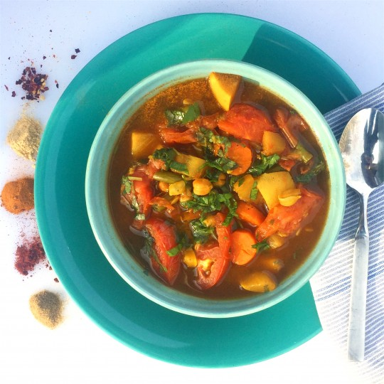 Pictured: Moroccan Vegetable Stew