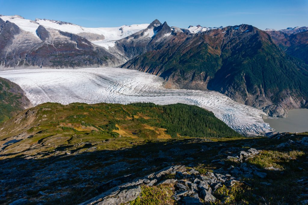 Mendenhall Glacier from Mt. McGinnis in Tongass National Forest