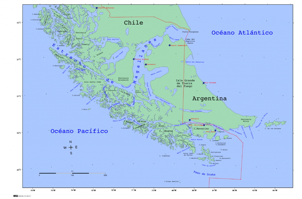 Image Credit: A Digital Map of the Strait of Magellan, Chile (2008), CC BY-SA; Wikipedia
