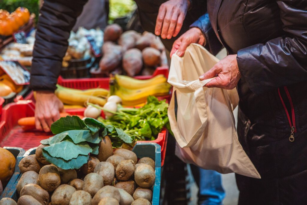 You've probably heard it before and you'll hear it again, but one of the best ways to shop waste-free is to bring reusable bags.