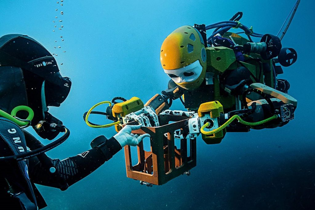 What do you think of when you see the phrase robots in the ocean?