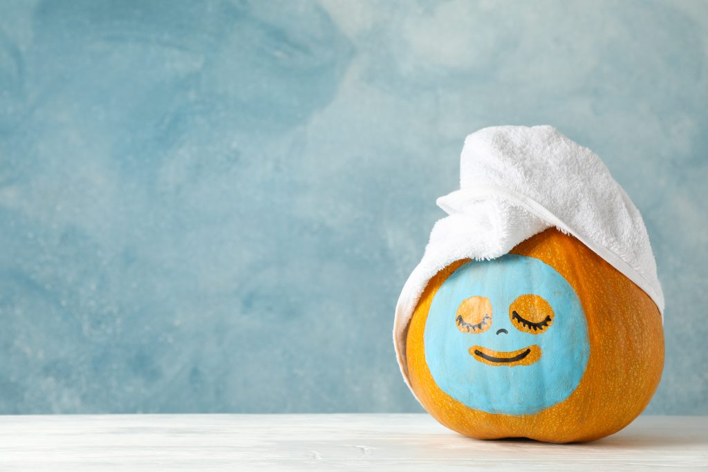 How can you avoid smiling when you've got a DIY raw pumpkin facial scrub to try?